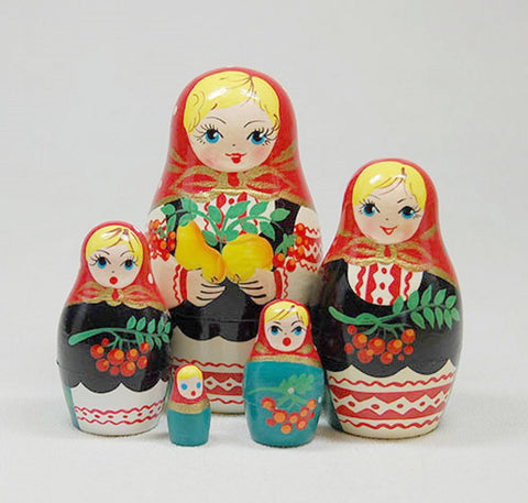 Currants Matryoshka Russian Nesting Dolls - Set of 5