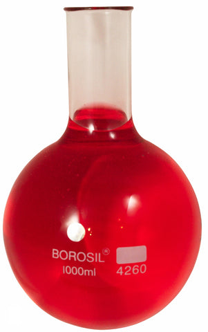 1000ml Borosilicate Glass Boiling Flask w/round bottom - Online Science Mall