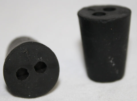 Rubber Stopper: Two-Hole: Size 1