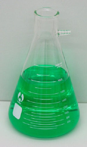 Bomex 2000ml Glass Filtering Flask w/ side arm 2 Liter