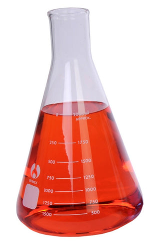 Erlenmeyer Glass Flask: 2000ml Bomex Brand Borosilicate Glass