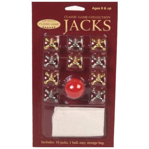 Tournament Jacks w Ball & Travel Pack  Classic Game Toy