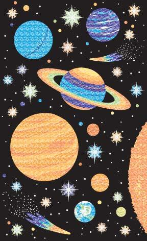 Mrs Grossman's Stickers - Sparkly Solar System