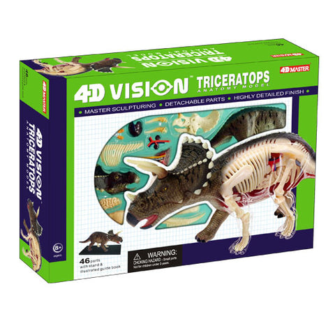 4D Vision Triceratops Cutaway Puzzle - Dinosaur Anatomy Model