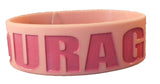 Breast Cancer Awareness Mega Rubber Band Bracelet One Size - Set of 3