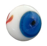 20mm Handmade  Art Glass Eyeball Marbles Pk of 50 w/3 Colors of Eye