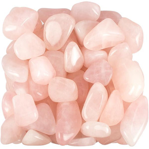 BULK 500+ Rose Quartz Crystal Mineral Tumbled Stones - 10 Pounds