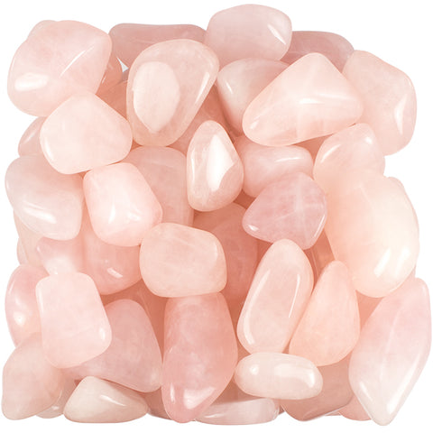 Bulk Tumbled Rose Quartz Gemstone Mineral Specimens - 1 Pound (Approx 50 Pc)