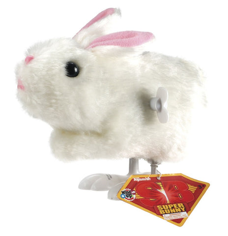Wind-up Super Bunny Rabbit - White Fur