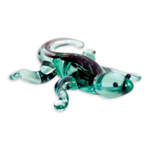 Looking Glass Torch Reptile Figurine - Gavin the Gecko