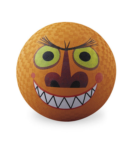 Monster Creature Rubber Playball Orange - 7 Inch Indoor Outdoor Ball
