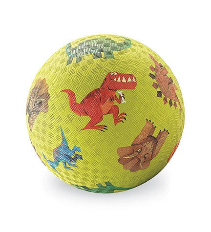 Dinosaurs Rubber Playball Green - 5 Inch Indoor Outdoor Ball