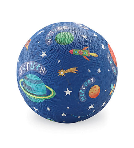 Solar System Rubber Playball Blue - 5 Inch Indoor Outdoor Ball