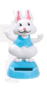 Solar Powered Dancing Easter Bunny - Blue