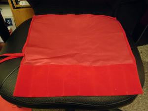 Soft Red Tuning Fork Pouches holds 12 forks
