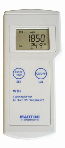 Mi805 Portable pH/EC/TDS/Temp Meter by Milwaukee Instruments
