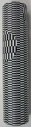 6.5 inch Kaleidoscope Black & White Optical Illusion Print