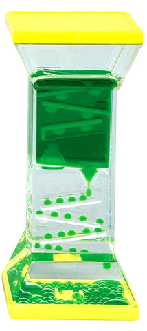 Zig Zag Drops Liquid Motion Desk Toy - Green and Yellow