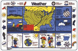 Weather Read A Mat Placemat Place Mat Clearance!