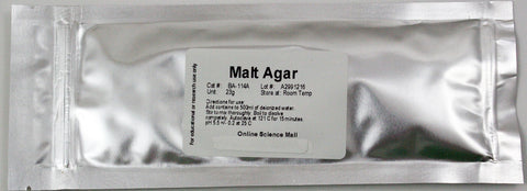 23g of Dehydrated Malt Agar Powder - Makes 500mL of Agar Solution