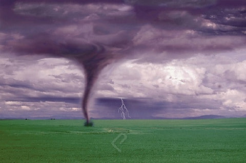 Tornado & Lightning Touchdown - Nature in Action Poster, 24x36