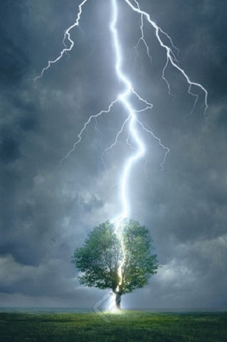 Impressive Lightning Strike - Nature in Action Poster, 24x36