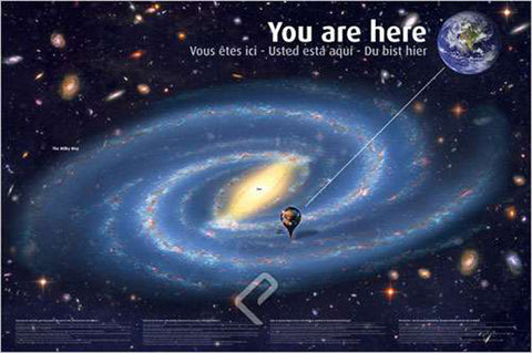 The Universe: You Are Here - Astronomy Poster, 24x36
