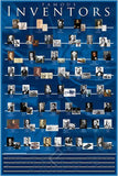 A Timeline of Famous Inventors Throughout the Ages - History Poster, 24x36