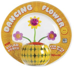 Yellow Mini Solar Dancing Flower with Adhesive Base