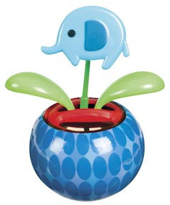 Dancing Elephant Flower - Mini Solar Dancing Flower with Adhesive Base