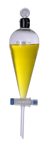 Glass Separatory  Funnel: PTFE Stopcock: 250ml