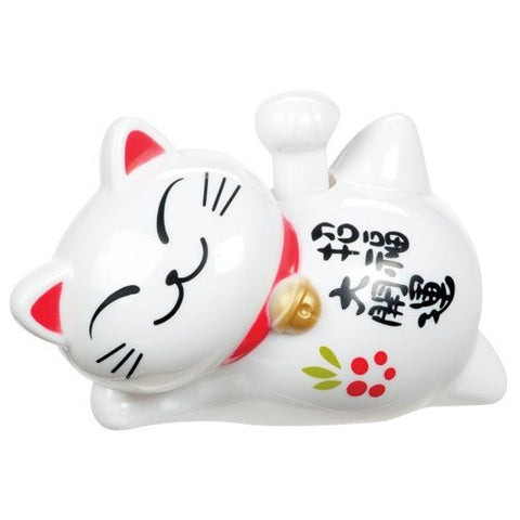 Solar Lucky Cat - Solar Powered Maneki-neko Waves Paw