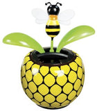 Solar Dancing Bumblebee Flower with Adhesive Base