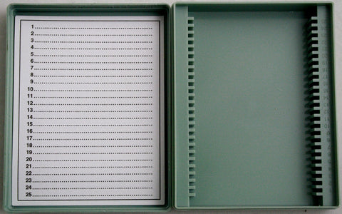 Microscope Slide Storage Box: Plastic: 25
