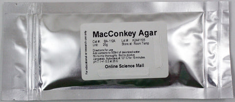 25g of Dehydrated MacConkey Agar Powder - Makes 500mL of Agar Solution