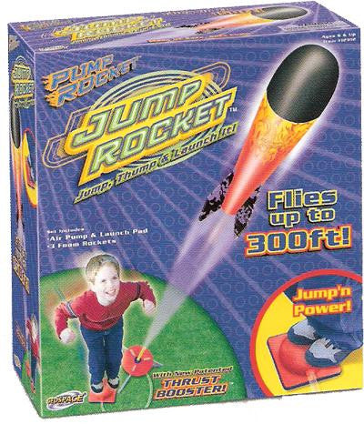 JUMP ROCKET Air-Powered Launch Pad & 3-Rocket Set  Pump and Stomp