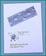 Glo Germ Handwashing Activity Sheets for Grades K-6 Hygiene