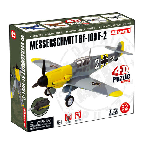 4D Master-Messerschmitt BF-109 F-2 Model Airplane Puzzle