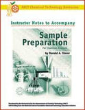 Sample Preparation Chemical Analysis:Instructor Book