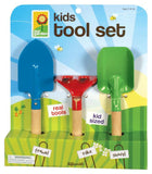 Kids Hand Gardening Tool Set with a Trowel, Rake and Shovel