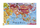 Asia Poster Puzzle - Map of Eastern Countries 200 Piece Jigsaw Puzzle & Wall Poster