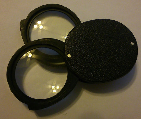 Pocket Magnifier: Folding Double Lens 22mm