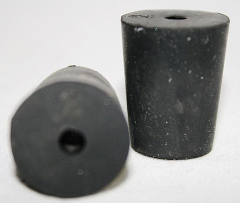 Rubber Stoppers: One-Hole: Per Pound: Size 2: (~45 Per LB.)