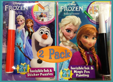Disney Frozen Invisible Ink 2 in 1 Activity Set - 2 Pack