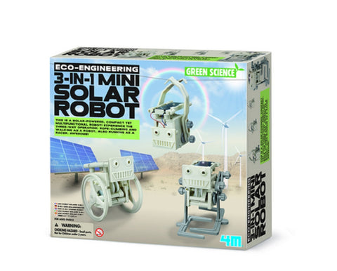 4M Eco Engineering 3 in 1 Mini Solar Robot Green Science & Learning Kit