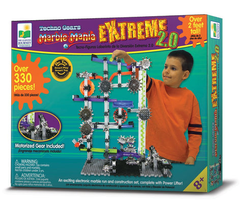 Extreme 20 Marble Mania 330 Piece Motorized Gears Marble Run