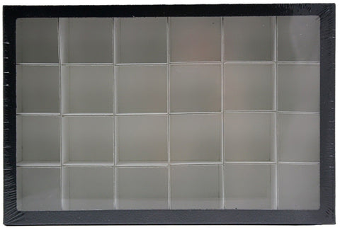 Deluxe Exhibit Case 8 x 12 Inches with 24 Compartments