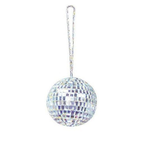 Disco- Mirror Ball- 2 Inch Ornament-Pack of 6