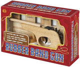 Wooden Rubber Band Shooter Gun with Target Board