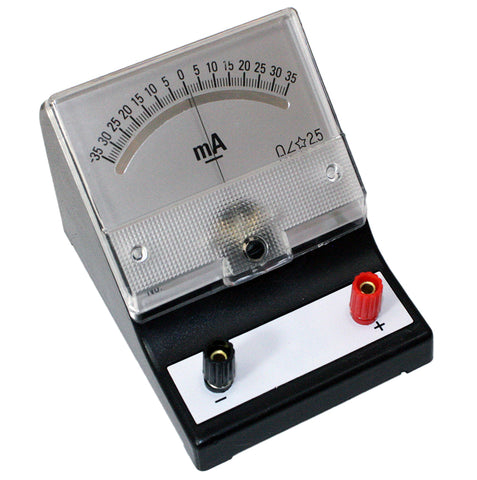 -35-0-35 milliamp (mA) Analog Sensitive Galvanometer, Analog Display